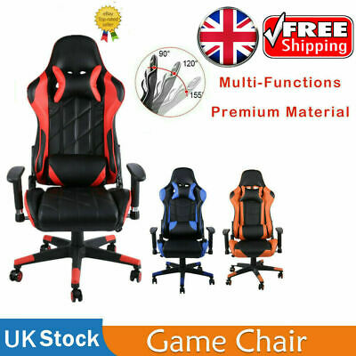 £61.20 • Buy Racing Gaming Chairs Swivel Lift Office Executive Recliner Computer Desk Chair