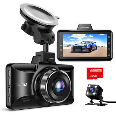 AU75.99 • Buy AZDOME FHD 1080P Dual Dash Cam Front And Rear Camera With 32G Card For Car Taxi