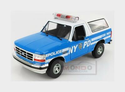 £75.95 • Buy 1:18 GREENLIGHT Ford Bronco Hard-Top New York Cityt Police Nypd 1992 GREEN19087