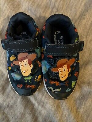 £3.99 • Buy Disney Pixar Toy Story Cars  Woody First Walker Trainers Size 5 By George EUR 22