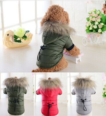 £8.12 • Buy Pet Dog Coat Winter Warm Padded Jacket Pet Dog Hoodie Puppy Cat Clothes Outfit