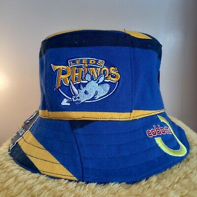 £29.95 • Buy Leeds Rhinos Rugby League Bucket Hat From Upcycled Official Shirt
