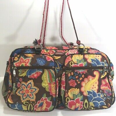 £16.39 • Buy OILILY Large Floral Weekender Travel Bag, Carry On, Beach Duffle, Gym/Diaper Bag