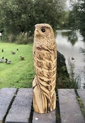 £35 • Buy Bespoke Chainsaw Owl / Eagle Carvings In Wood OW1313T313E