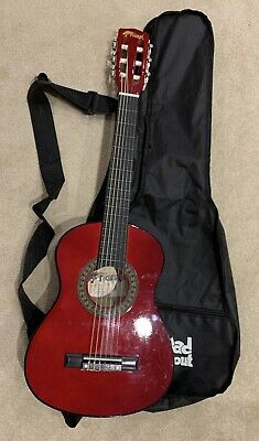 £24.99 • Buy Tiger 1/4 Red Guitar, Strap And Case. Children's Guitar