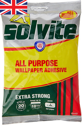 £4.26 • Buy Solvite All-Purpose Wallpaper Adhesive, Reliable Adhesive For 1 X 185g