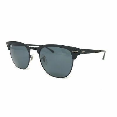 AU74.09 • Buy Ray-Ban Clubmaster RB3716 Sunglasses Black Metal Sun Shades Frames Glasses Italy