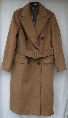 £49.50 • Buy Ladies Marks And Spencer Camel Lined Coat With Buckle Belt Fastening Size 16