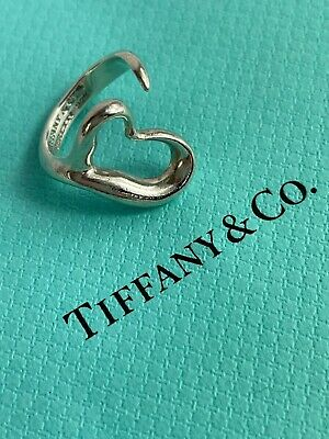 £50.82 • Buy Tiffany & Co. Silver 925 Peretti Open Heart Ring Size 5 US With Box Pouch
