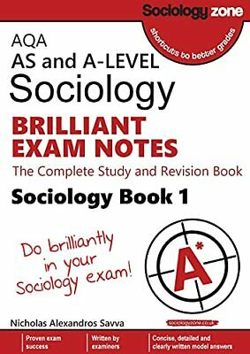 £18.89 • Buy AQA AS And A-level Sociology BRILLIANT EXAM NOTES (Book 1)... By Savva, Nicholas