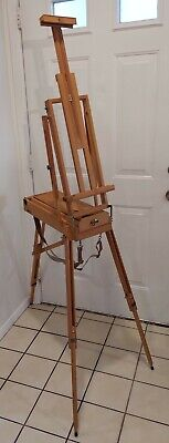£209.90 • Buy MINT! Vintage MABEF Artists Easel, Italy, Travel Wood Wooden Folding Collapsible