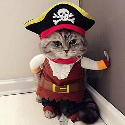 £6.99 • Buy Halloween Funny Pet  Dog Cats Pirate Clothes Cosplay Costumes Fancy Outfits