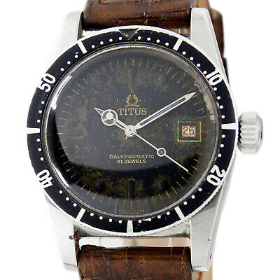£2242.32 • Buy Titus Calypsomatic Automatic 7985 Aged Dial 38mm Collectors Wrist Watch