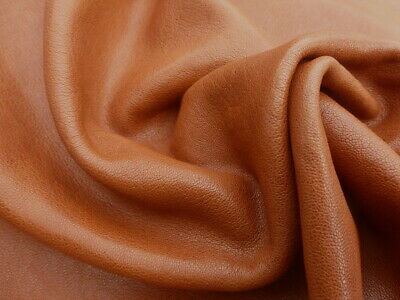 £29.15 • Buy Goatskin Leather Hide Stone Washed Cognac Brown 2 1/2-3 Oz