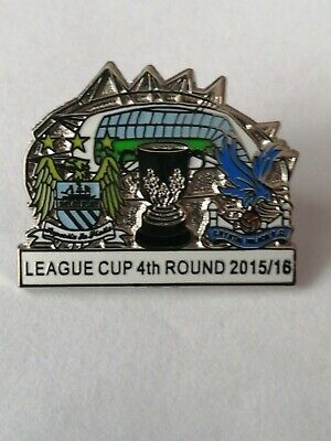 £2.65 • Buy Manchester City V Crystal Palace Match Day Pin Badge 15 /16 White