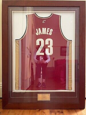 AU1995 • Buy Signed And Framed LeBron James Jersey With Certificate Of Authenticity