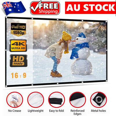 AU25.99 • Buy 150  Foldable Projector Screen Portable Outdoor Home Movie 3D Cinema Party 16:9