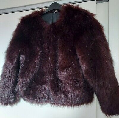 £15 • Buy Divided Faux Fur Jacket Size 10