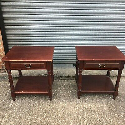 £25 • Buy Pair Of Lamp Side Tables Bedside Tables With Lower Shelf & Drawers