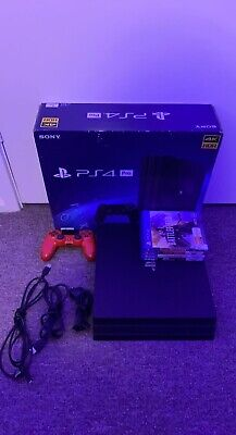 AU275 • Buy Sony PS4 Pro 1TB Jet Black Console Complete With Original Box + 4 Games
