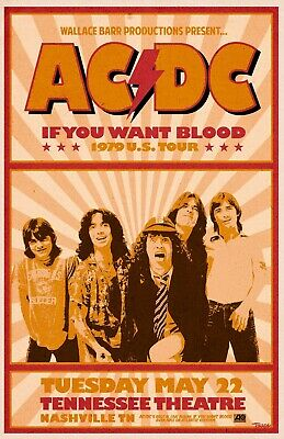 $18.95 • Buy AC/DC 13  X 19  Reproduction Concert Poster Archival Quality
