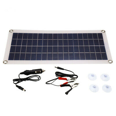 £16.99 • Buy 30W Solar Panel 18 Volt Trickle Battery Charger 30A Controller For Car Van Boat