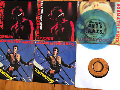 £4.99 • Buy Adam And The Ants X 6 Vinyl 45s (EX) Play Tested Both Sides & Blue Flexi (?)