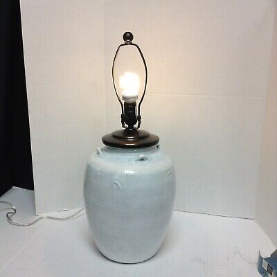 £217.88 • Buy Pottery Barn Courtney Handcrafted Ceramic Small Side Table Lamp Base Only Ivory