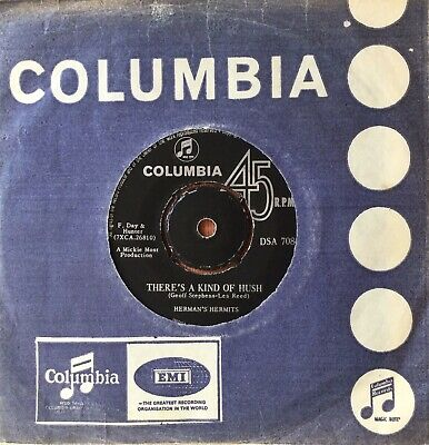 £0.99 • Buy HERMAN'S HERMITS 'There's A Kind Of Hush/Gas Light Street' Col South African 45