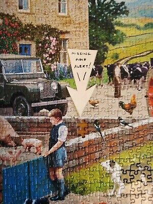 £1.50 • Buy Gibsons 1000 Piece Jigsaw Life On The Farm One Missing Piece