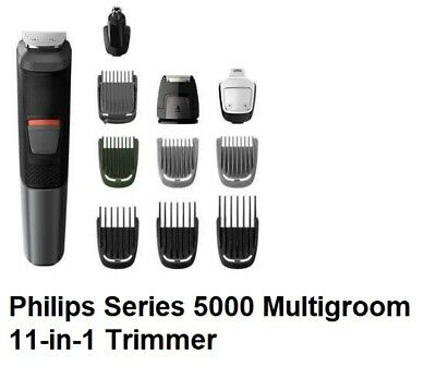 AU109.99 • Buy Philips Series 5000 Multigroom 11-in-1 Trimmer - 11 Tools For Face, Hair & Body