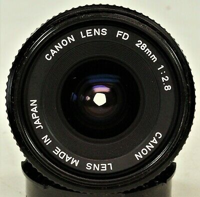 £19.99 • Buy Vintage Canon FD 28mm F2.8 Wide Angle Lens.  Caps, Working.