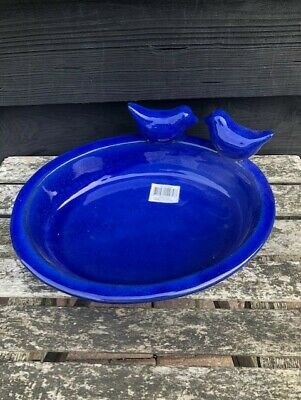 £21.95 • Buy Ceramic Oval Bird Bath Very Decorative And Practical In Blue
