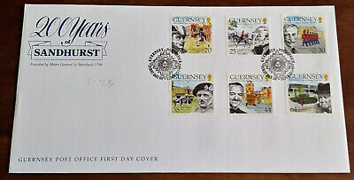 £0.99 • Buy Guernsey 1999 200 Years Of Sandhurst FDC With Fancy Pmk See Scan