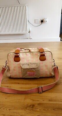 £9.99 • Buy Mothercare Pink Lining Yummy Mummy Changing Bag With Mat