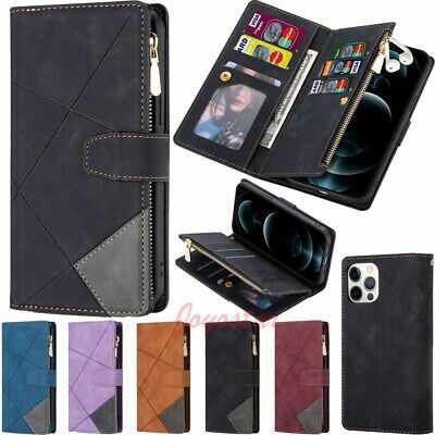 AU18.20 • Buy Zipper Wallet Card Holder Leather Case Cover For IPhone 13 12 11 XS XR SE 8 7 6s