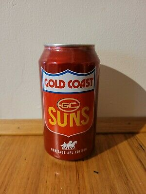 AU8 • Buy Gold Coast Suns VFL AFL  Heritage Empty Beer Can Carlton Draught