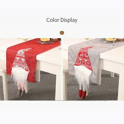 AU28.07 • Buy Christmas Decorations Rudolph Table Runner Creative Tablecloth Dining Placemats