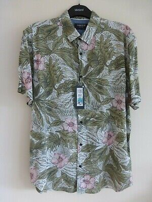 £4.99 • Buy M&S Limited Edition Green Mix Short Sleeve Shirt In Tropical Print Size S BNWT