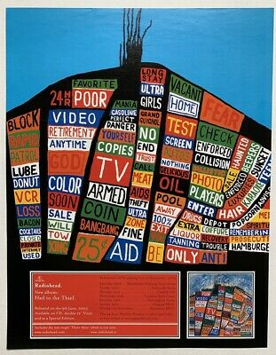 $24.37 • Buy Radiohead 2003 Poster Advert Hail To The Thief Concert Tour