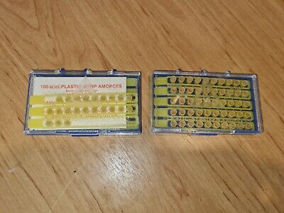£9.99 • Buy Vintage 1980's Single Shot Toy Gun Caps In Two Cases 120 Pieces
