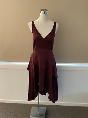 AU30 • Buy Finders Keepers Burgundy Party Cocktail Dress Size M New