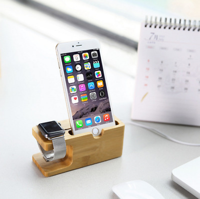 AU19.98 • Buy Apple Watch IWatch Charing Dock Station Holder Stand Bamboo Wood Timber On Sale