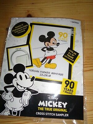 £4 • Buy Disney Mickey Mouse Counted Cross Stitch Kit