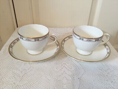 £9.99 • Buy 2 X Wedgwood Colchester Tea Cup & Saucer Bone China Lovely Condition (set 1)