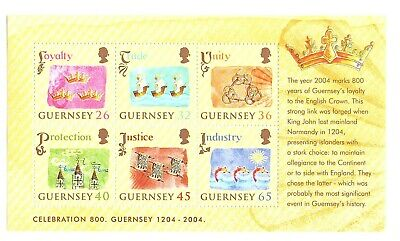£1.30 • Buy Guernsey 2004. 800th Anniversary Of Allegiance To England  MS1044 MNH