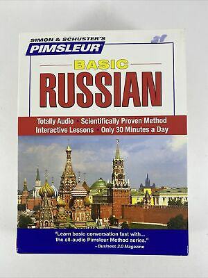£12.32 • Buy Basic RUSSIAN By Pimsleur - 10 Lessons On 5 CD's With Case SIMON & SCHUSTER