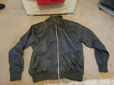 £9.95 • Buy HARRINGTON JACKET BLACK WITH TARTAN LINING  SIZE 5XL Excellent Condition
