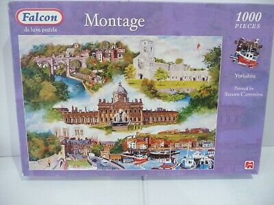 £2.95 • Buy 1000 Piece Falcon Jigsaw Puzzle - 'Montage Of Yorkshire' - COMPLETE/VGC