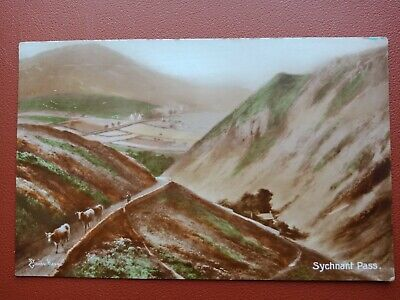 £1 • Buy Vintage Elmer Keene Hand Coloured Photo Postcard Sychnant Pass, Conwy, Wales